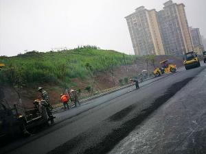 江南路源新建设与中铁二局三公司合作项目改性沥青路面连续技术施工