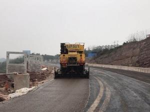 老窖技改项目经七路北段稀浆封层施工